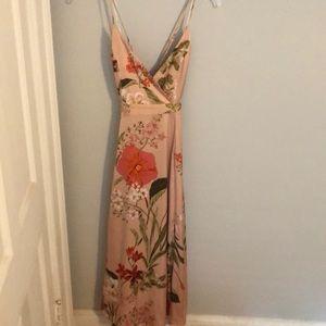 Lulus pink/ floral maxi dress